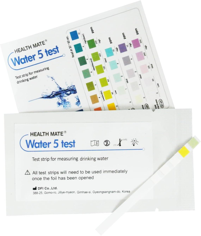 2 x Tiras de analisis agua potable y calidad - Mide la dureza, alcalinidad, cloro y pH