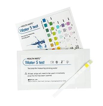 3 x Tiras de analisis agua potable y calidad - Mide la dureza, alcalinidad, cloro y pH: Amazon.es: Salud y cuidado personal
