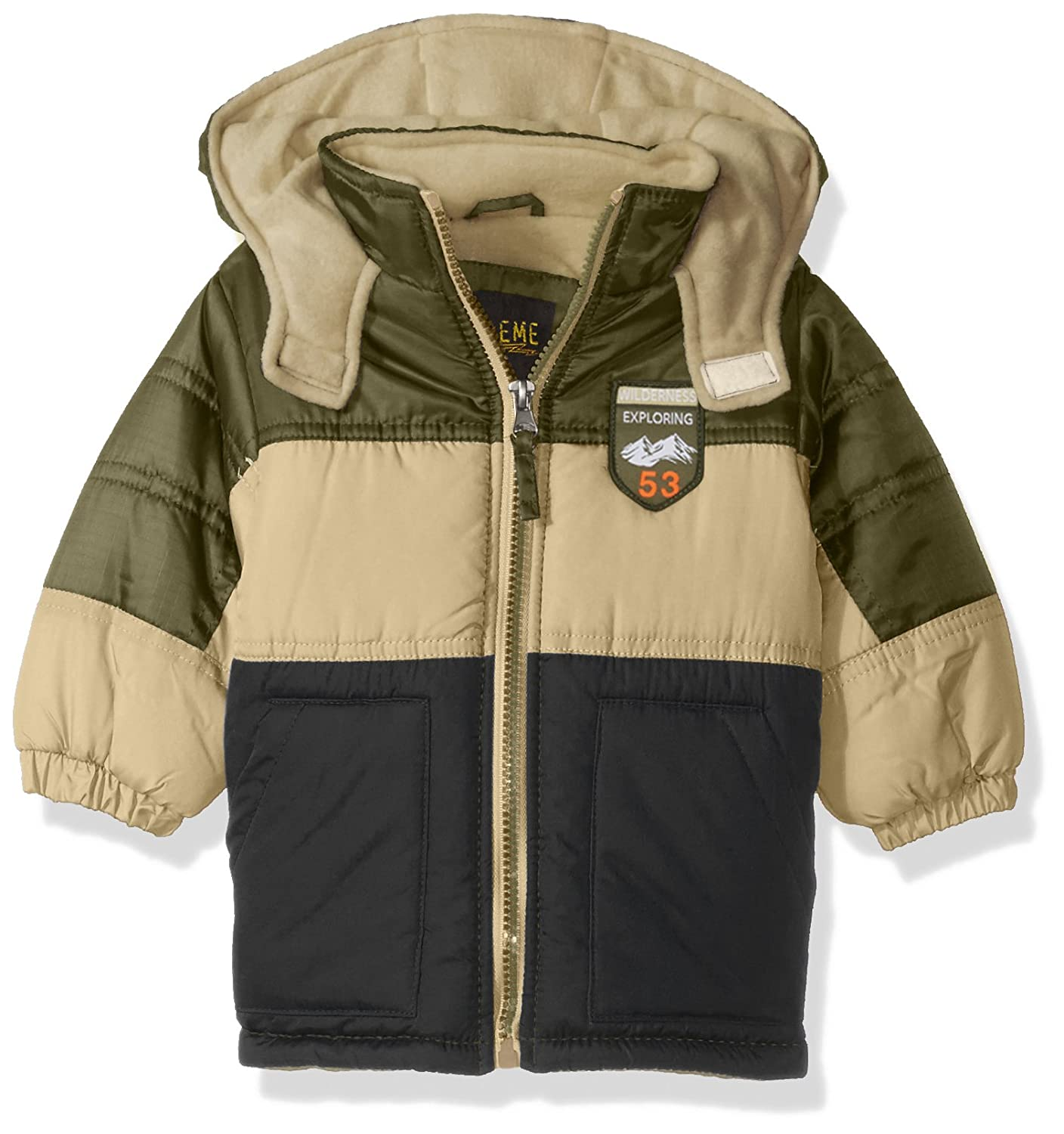 iXtreme Baby Boys Infant Coloblock Puffer W/Patch 94305