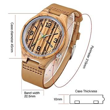 Reloj de Reloj de Madera de la Manera de Los Hombres Personalizados Del Reloj de Manera , naranja amarillo: Amazon.es: Deportes y aire libre