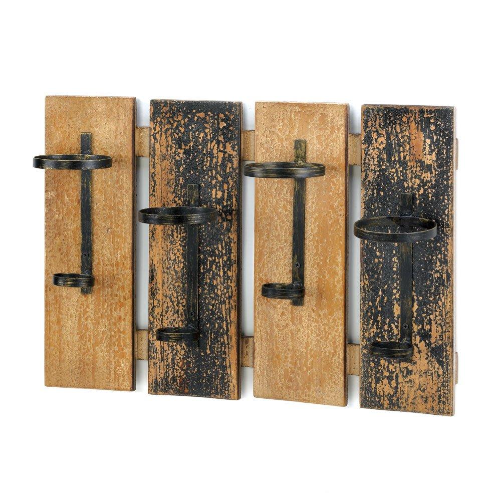 Top Amazon.com: Smart Living Company Rustic Wall Mounted Wine Rack  ST08