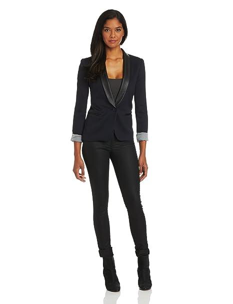 fashion styles best quality exclusive deals James Jeans Women's Ponte Combo Tuxedo Blazer