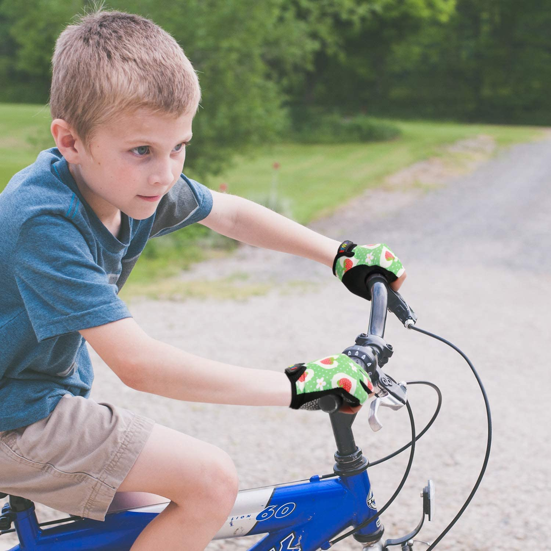 Bicicleta de Carretera KONVINIT Guantes Bici ni/ño Ciclismo Guantes para Infantil y ni/ños para 2-10 a/ños MTB BMX Medio Dedo Guantes de Ciclismo para Patinaje Bicicleta de Monta/ña