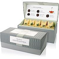 Tea Forte Classic Black Tea Presentation Box Tea Sampler Gift Set, 20 Assorted Variety Handcrafted Pyramid Tea Infuser…