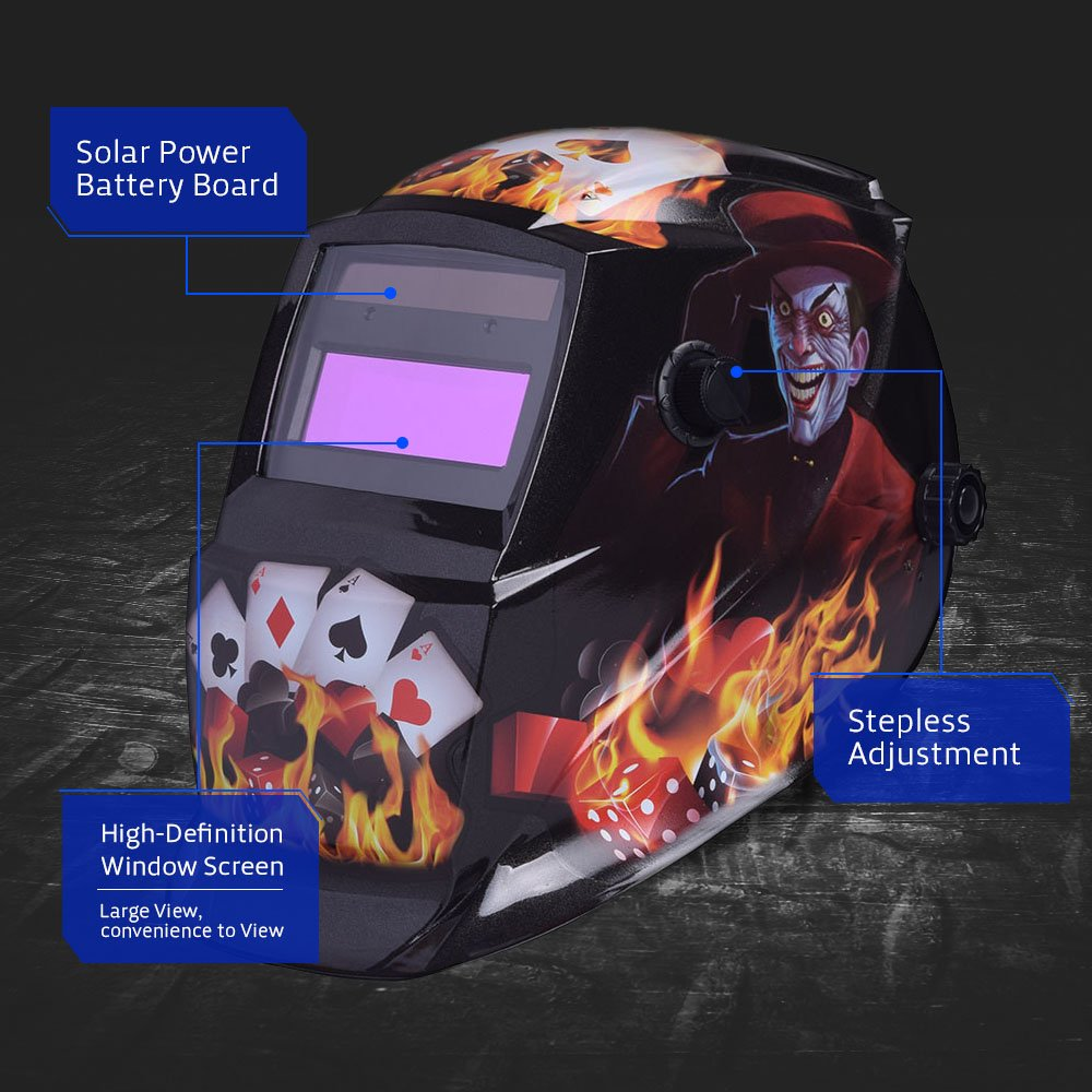 nuzamas funciona con energía solar auto oscurecimiento soldadura casco máscara de soldadura cara protección para Arc Tig Mig de Molienda de corte por plasma ...