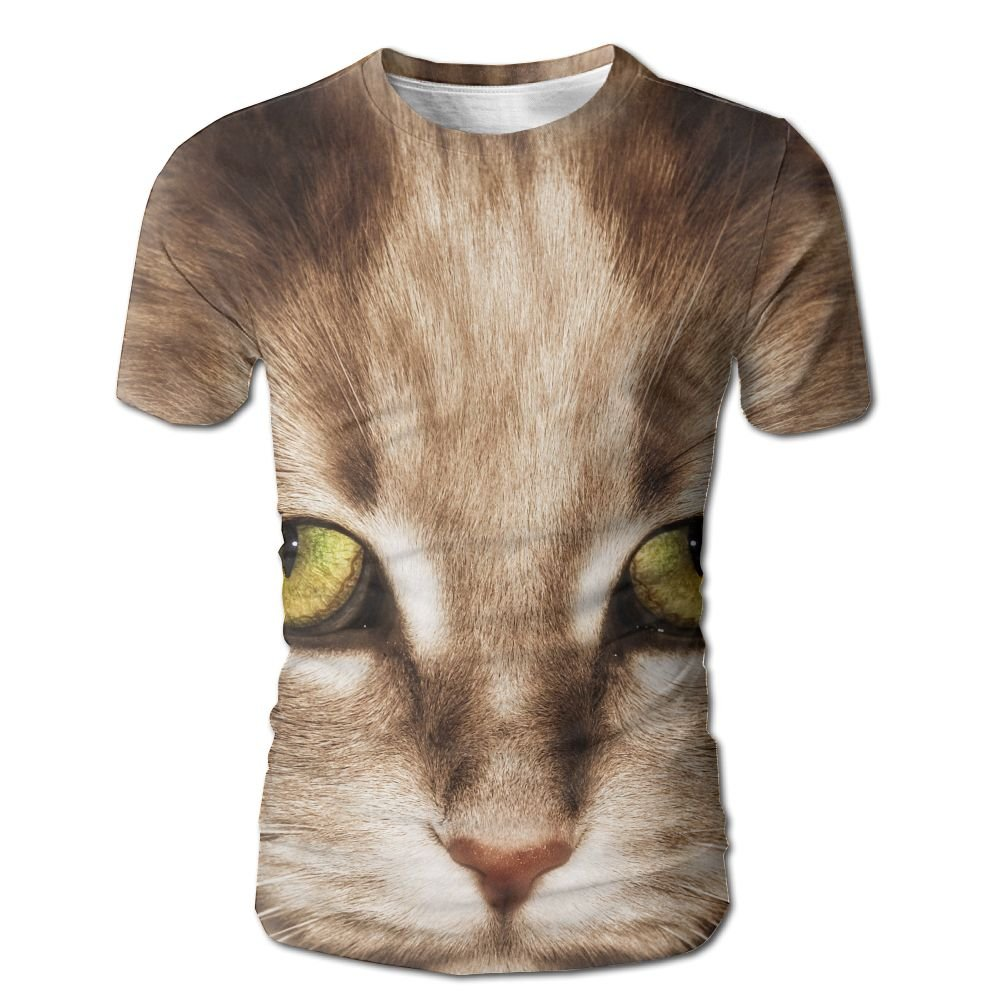 XIA WUEY Kitten Face Menshort Sleeve Baseball Tshirt Graphic Tees Tops For Workout by XIA WUEY