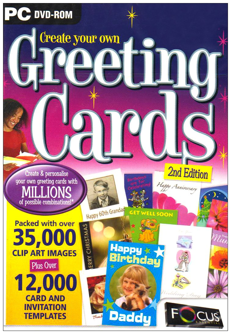 Create Your Own Greeting Cards Second Edition Pc Dvd