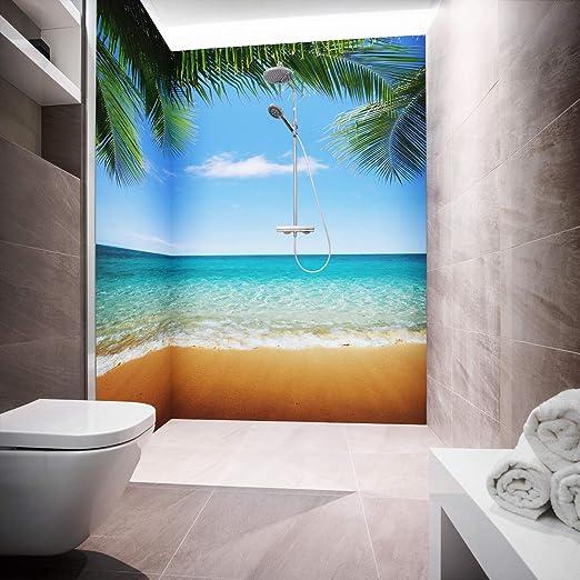 Ducha posterior placas de aluminio ligero de Como único placa o – Juego de placas para esquinas corte de duchas en métrica – Diseño Palm Beach: Amazon.es: Bricolaje y herramientas