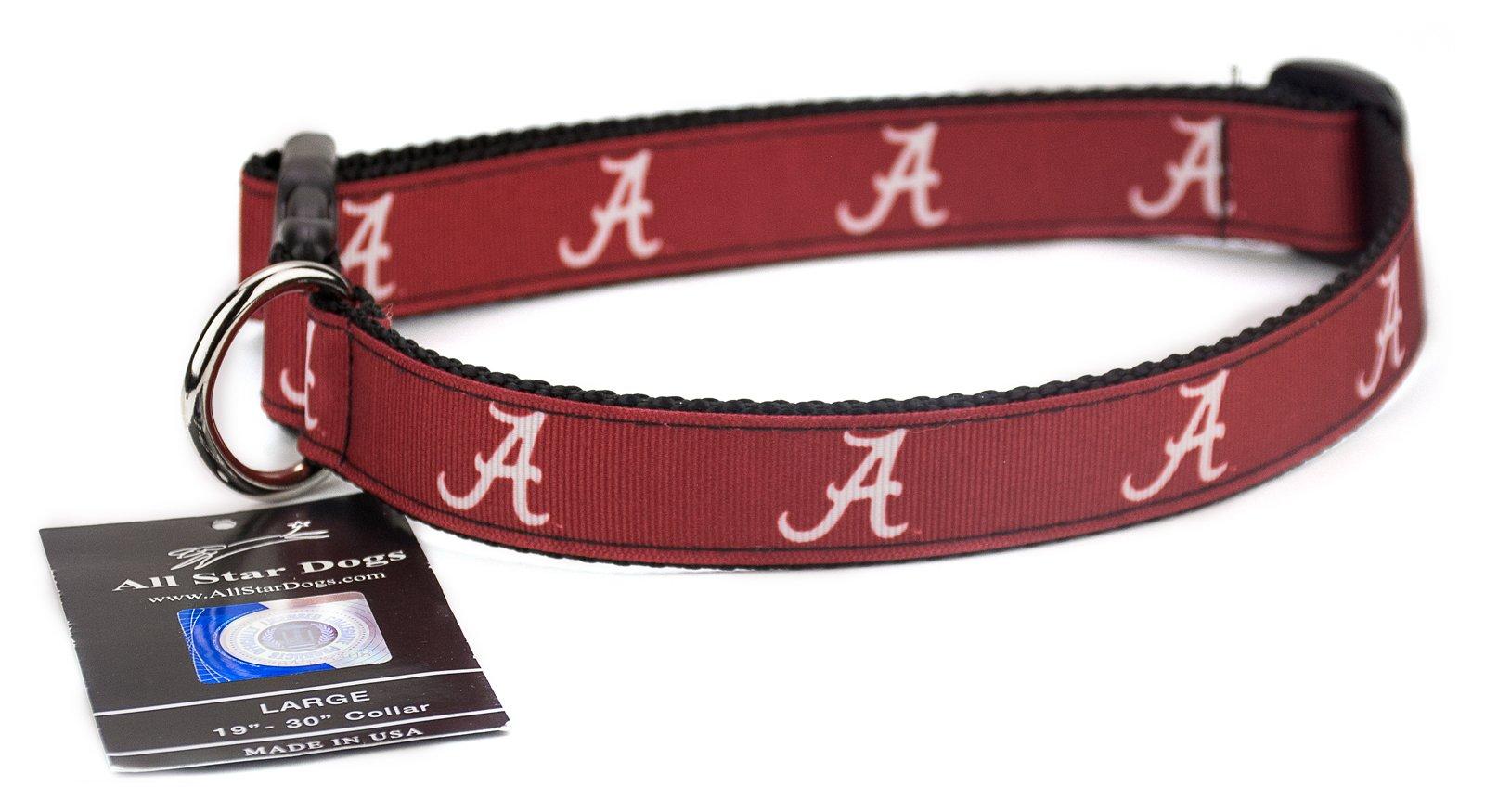 Alabama Crimson Tide Ribbon Dog Collar - Extra Small