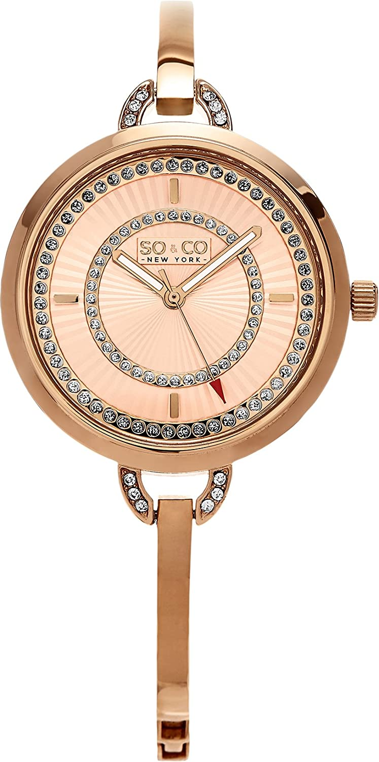 Amazon.com: SO & CO New York Womens 5222.3 Rose Gold Stainless Steel Watch: SO & CO: Watches