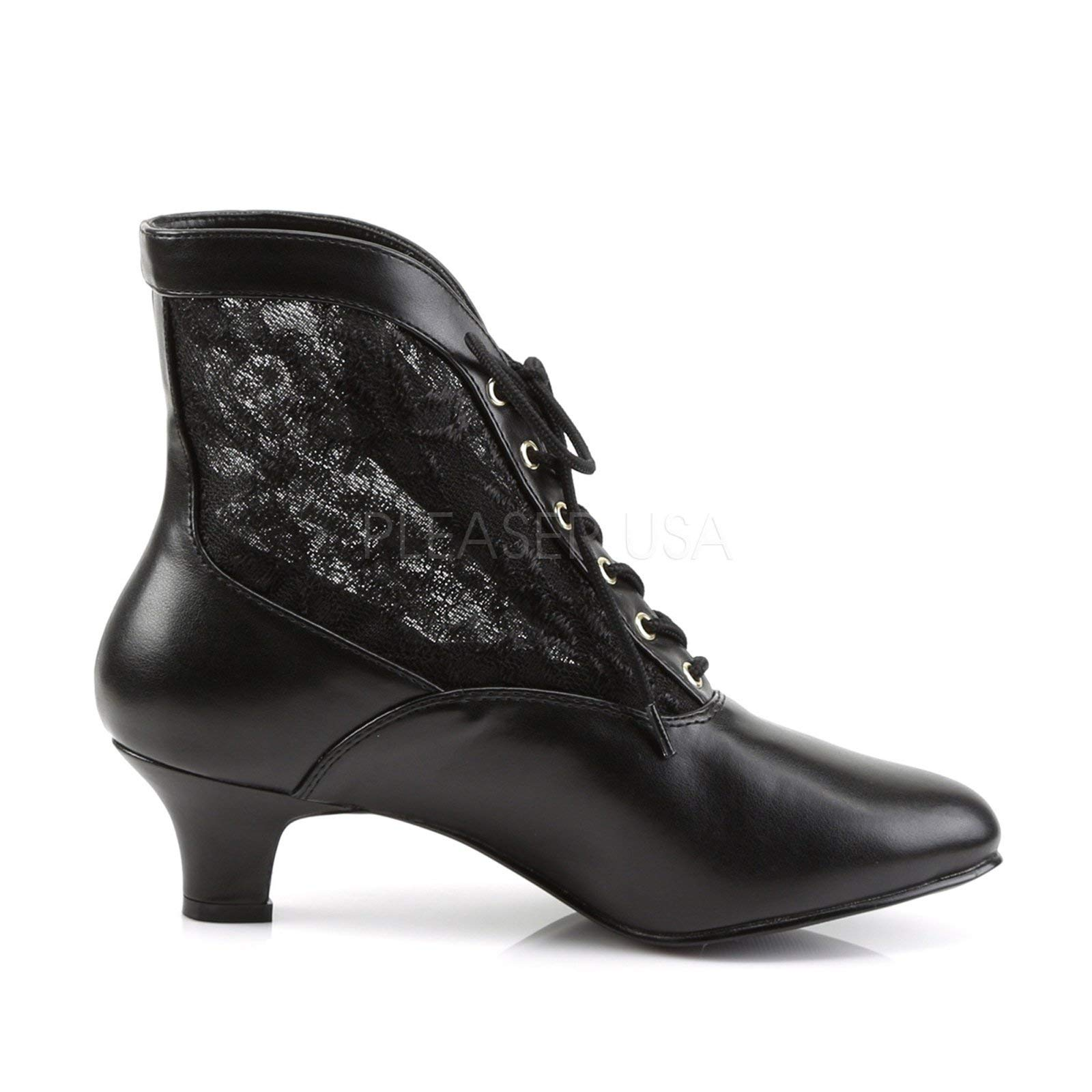 Pleaser Victorian Shoes Granny Boots