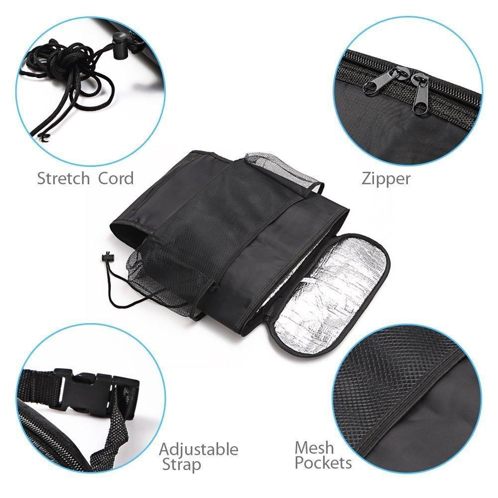 G1-Tech 2-pack Car Seat Back Organizer Baby Backseat Organizer Multi Purpose Travel Storage Bag