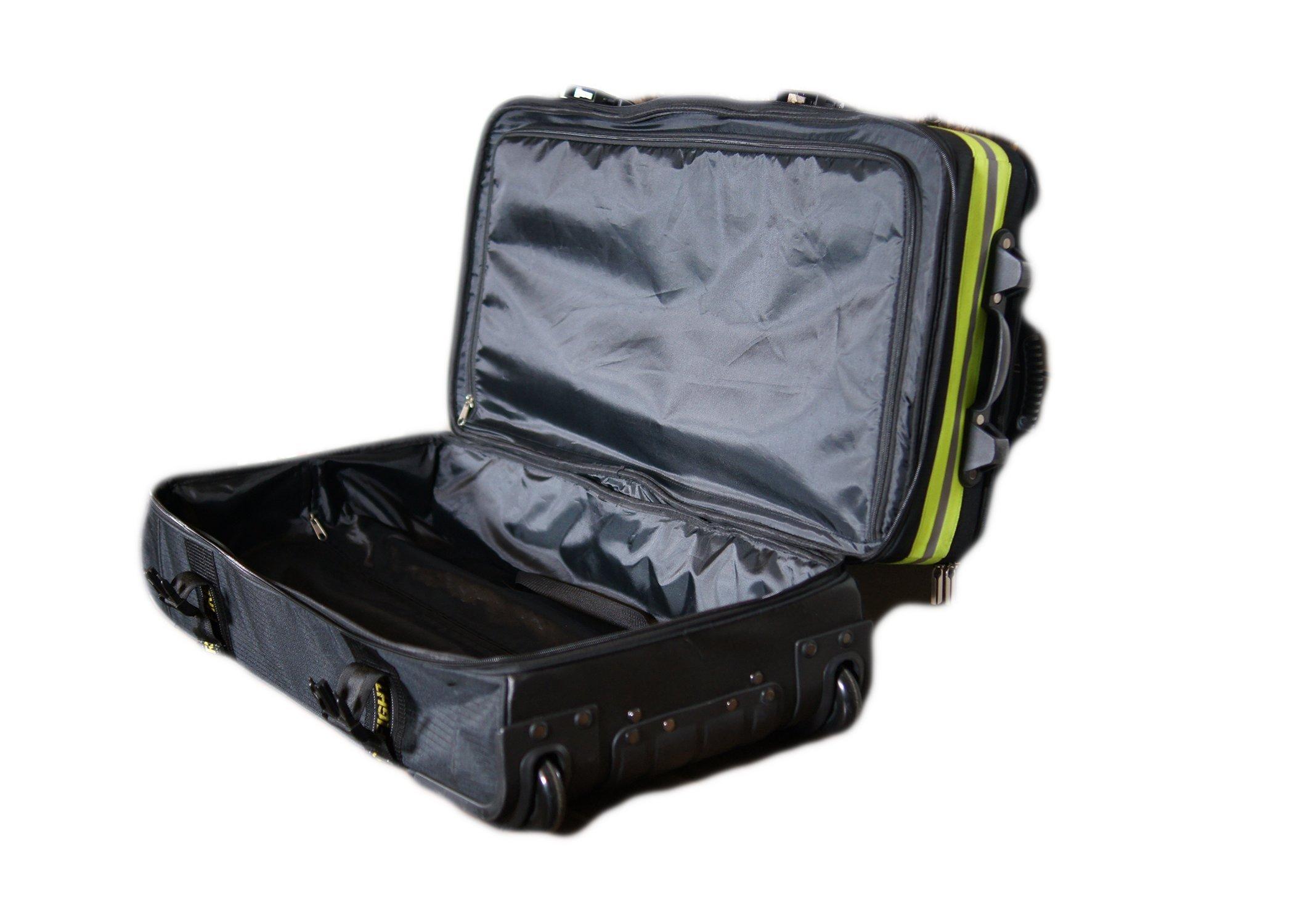 Fireflex Firefighter Rolling Travel Bag (Black) by Firefighters Merchandise (Image #4)