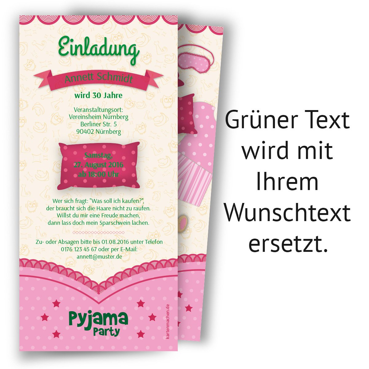 Einladungen (10 Stück) Pyjama Party Geburtstag Übernachtung Einladungskarten:  Amazon.de: Bürobedarf U0026 Schreibwaren