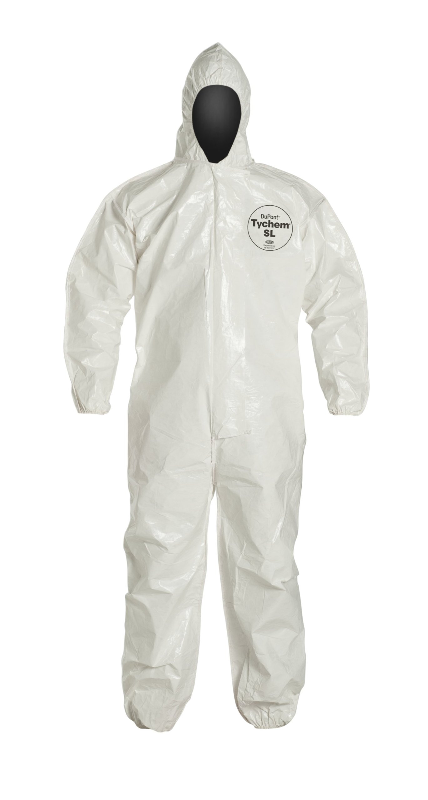 DuPont Tychem 4000 Disposable Chemical Resistant Coverall with Hood, Elastic Cuff and Taped Seams, White, 4X-Large, 6-Pack