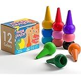 GiBot 12 Couleurs Crayola Peinture des Crayons pour enfants sûrs et non-toxiques Crayons Maquillage pour Enfants