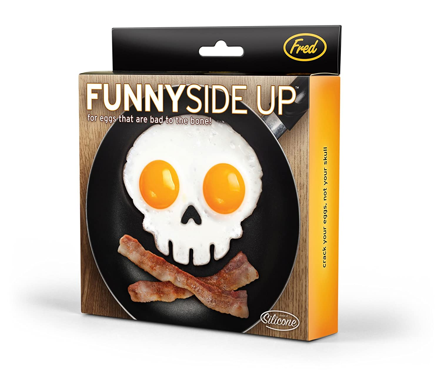Amazon.com: Fred FUNNY SIDE UP Silicone Egg Mold, Skull: Egg ...