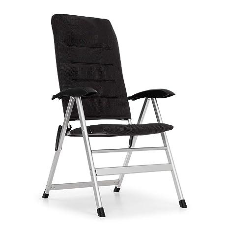 Blumfeldt Almagro Garden Chair Silla para Exteriores - Respaldo Regulable a 6 Alturas , Gomaespuma con 2 cm de Acolchado , Patas Hechas enteramente de ...