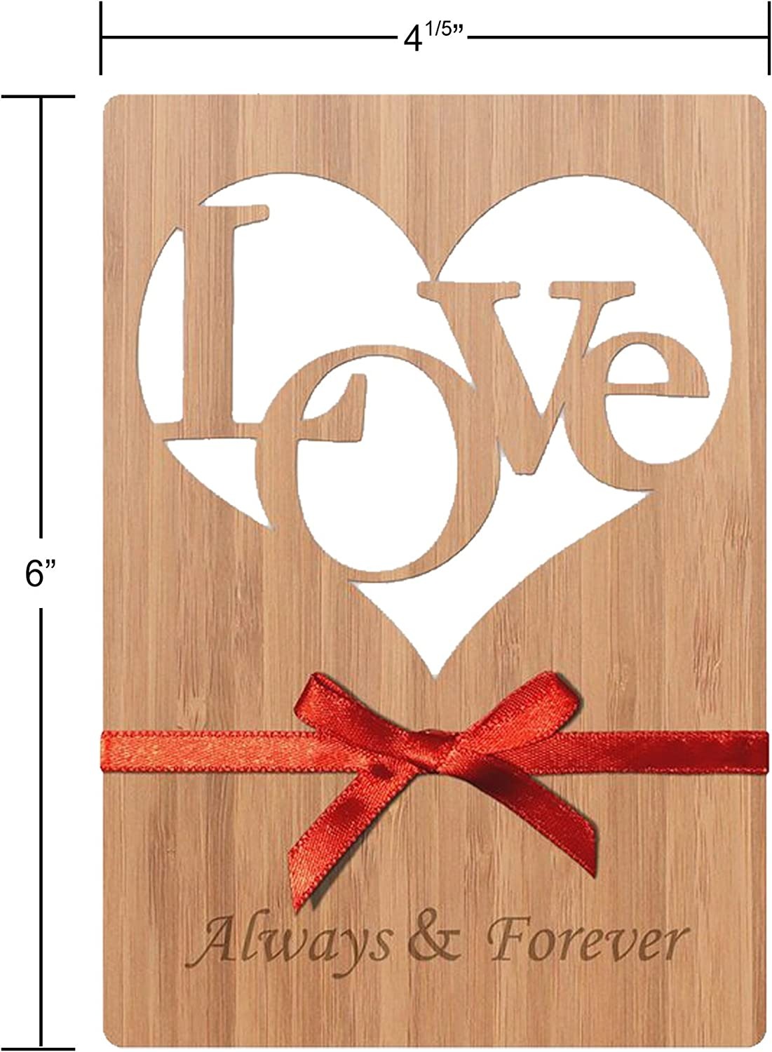 Perfect Way To Say I Love You Or Husband: Love Greeting Cards Handmade in Real Wood For Him//Her Anniversary Card For Wife Just Because Valentines Day Happy Birthday