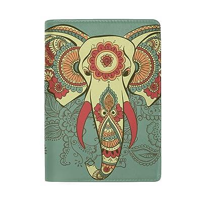 ColourLife Indian Elephant Leather Passport Holder Cover for Men Women Kids