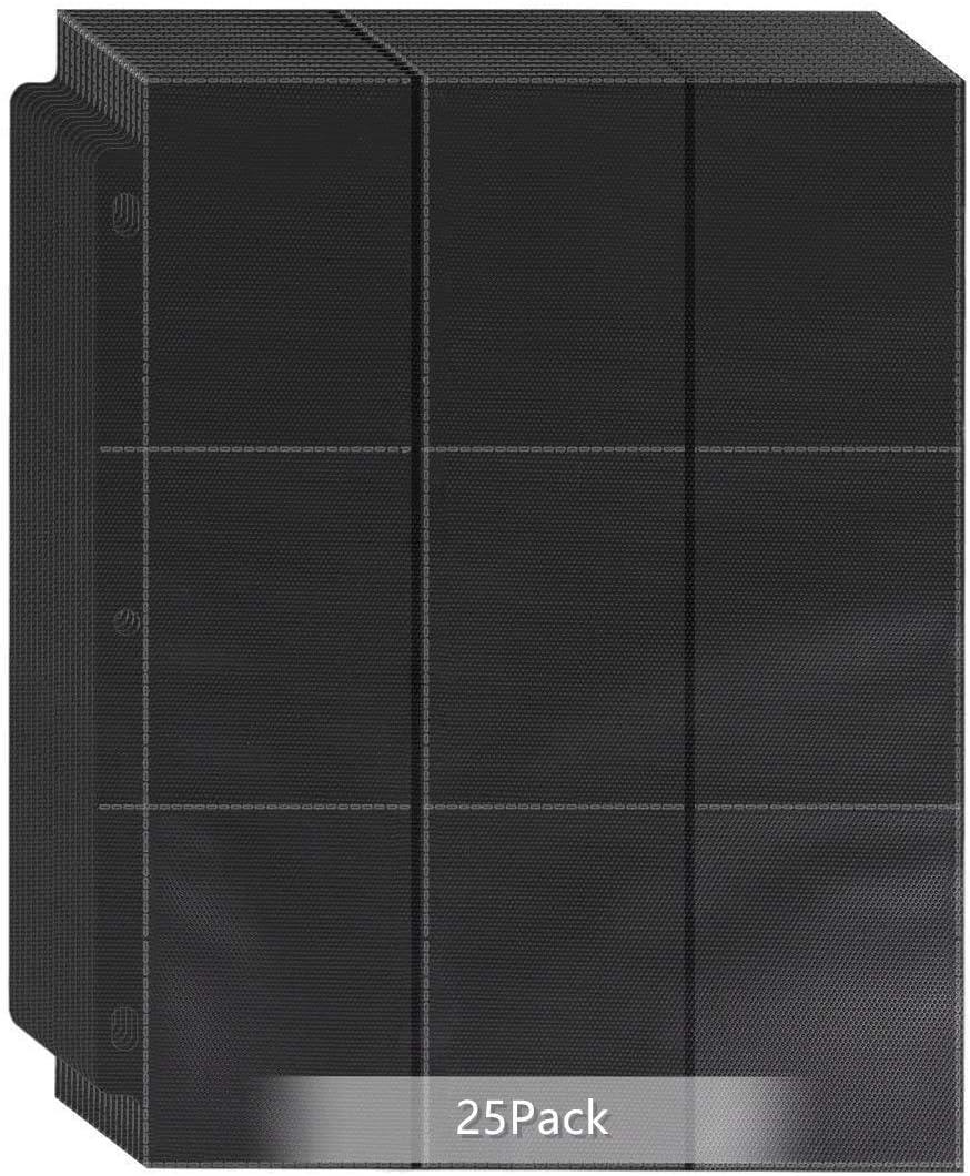 POKONBOY 450 Pockets Baseball Card Sleeves Binder Album for TCG, Trading Card Sleeeves Holder Fit for Pokemon, Skylanders, Football, Standard Sized Sport Cards and Celebrity Cards