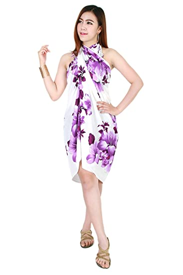 03d01ac42dbb7 Hibiscus Chaba Sarong Pareo Wrap Dress Skirt Beach Cover up Swimwear ...