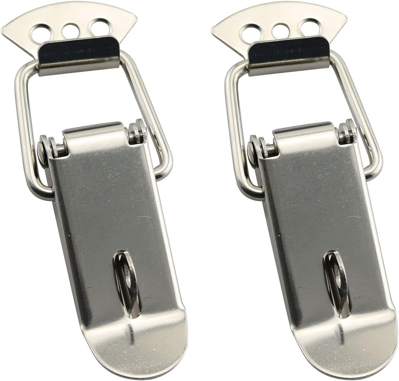 Koffer Sicherheitszubeh/ör f/ür Schr/änke Edelstahl RuiLing Federverschluss-Klemme 58 mm 2 St/ück 74MM