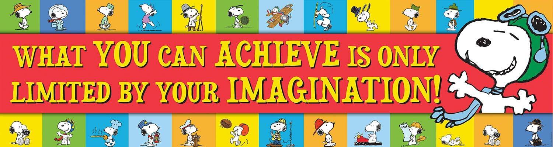 Eureka Peanuts Classroom Banner, Achieve,12 x 45