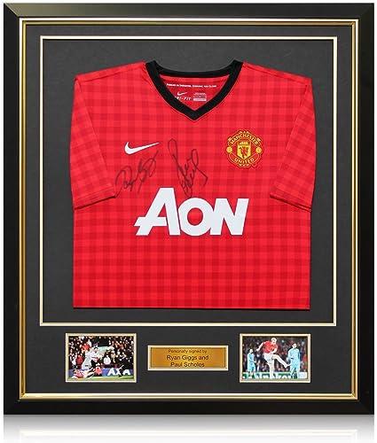 Ryan Giggs y Paul Scholes Firmado 2012-13 camiseta de fútbol ...