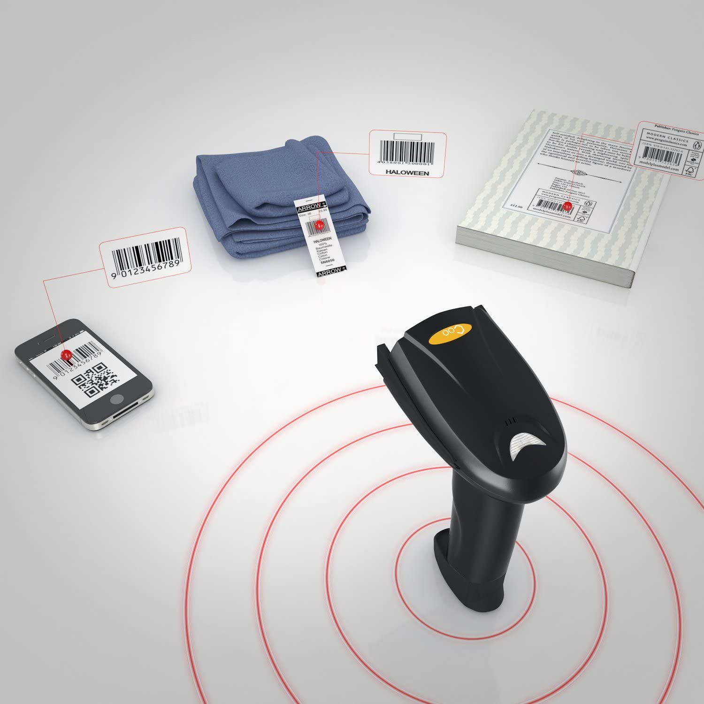 Sans fil 2,4/G sans fil Handheld Barcode Scanner laser sans fil Barcode Scanner laser optique anti-interf/érences kit de code /à barres