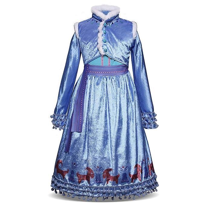OwlFay Niñas Disfraz de Princesa Elsa Reino de Hielo Vestidos de ...