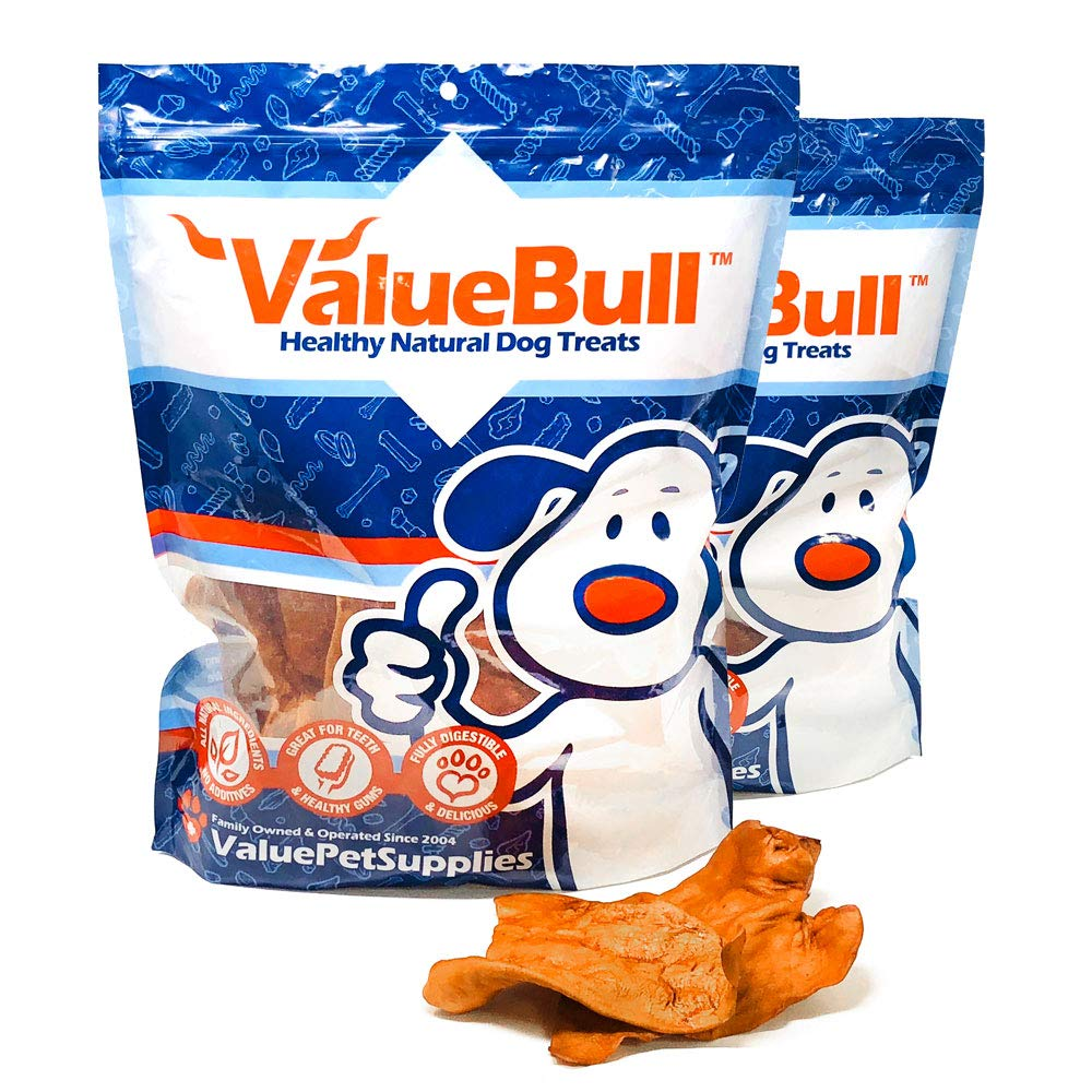 ValueBull Lightly Smoked Pig Ears Dog Chews, 50 Count