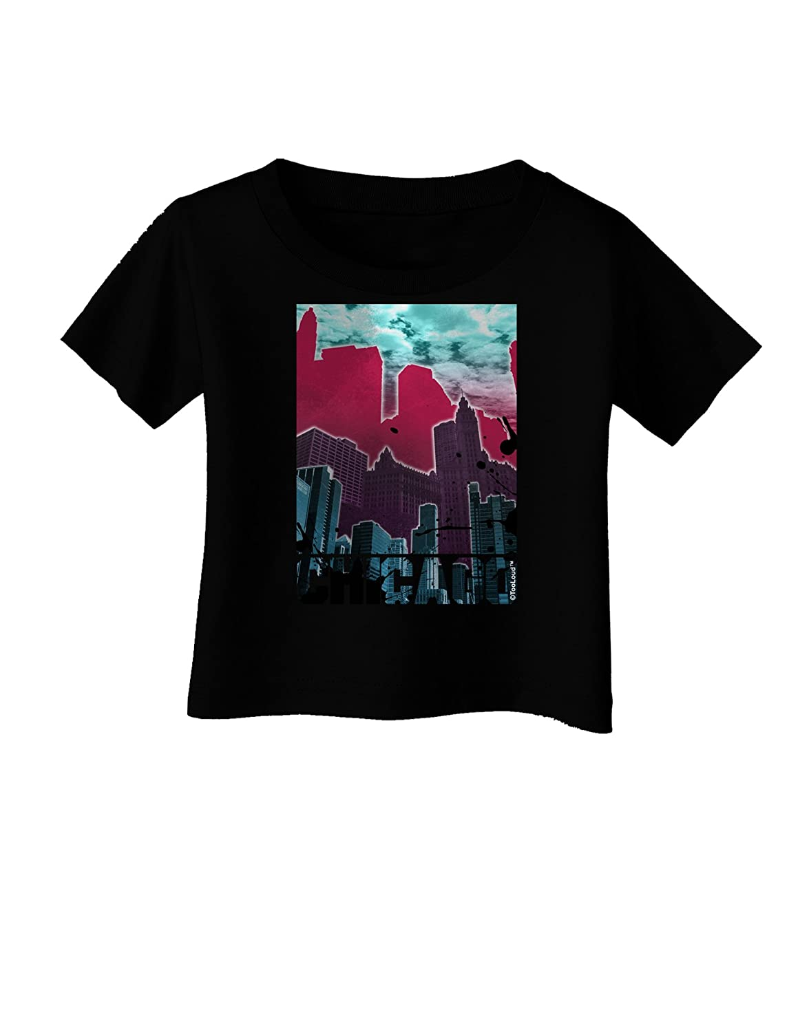 TooLoud Chicago Abstract 2 Infant T-Shirt Dark