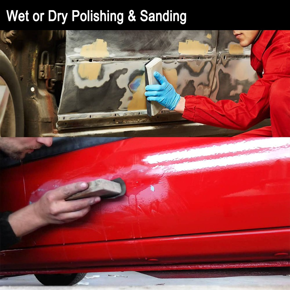 """9x11 Inch Sanding Pads 10 Sheets Sandpaper /"""" Wet Or Dry 7000-15000 Grit Paper"""