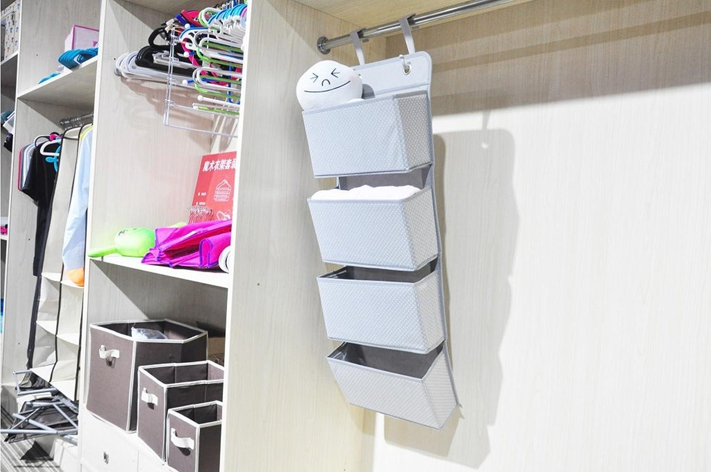 CHICIEVE - Organizador para armario de bebé de tela para animales, mantas, pañales, 4 cajones, bolsa de almacenamiento para dormitorio infantil/puerta, ...