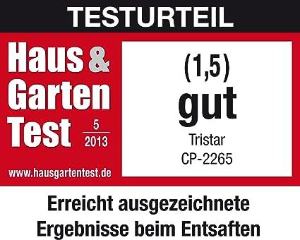 Tristar CP-2265 - Exprimidor, exterior acero inoxidable, 60 W ...