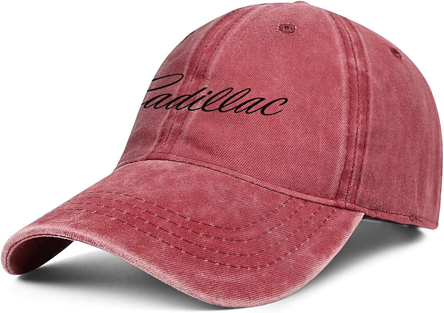 Yoursport Baseball Cap,Unisex Adjustable Hat Travel Cap for Man,Women Red Fit Cadillac Accessories