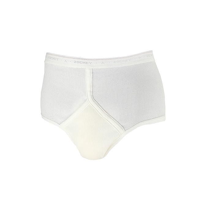 Slip de JOCKEY / Hasta Talla 5XL - Blanco con mango - blanco, S,