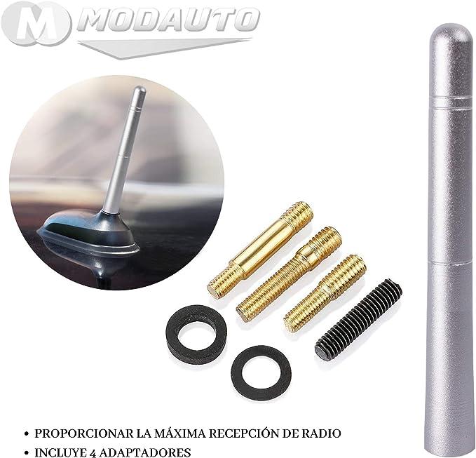 MODAUTO Antena de Radio Universal, Varilla 12cm, 4 ...