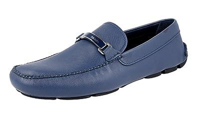 Men's 2DD099 053 F0016 Saffiano Leather Loafers