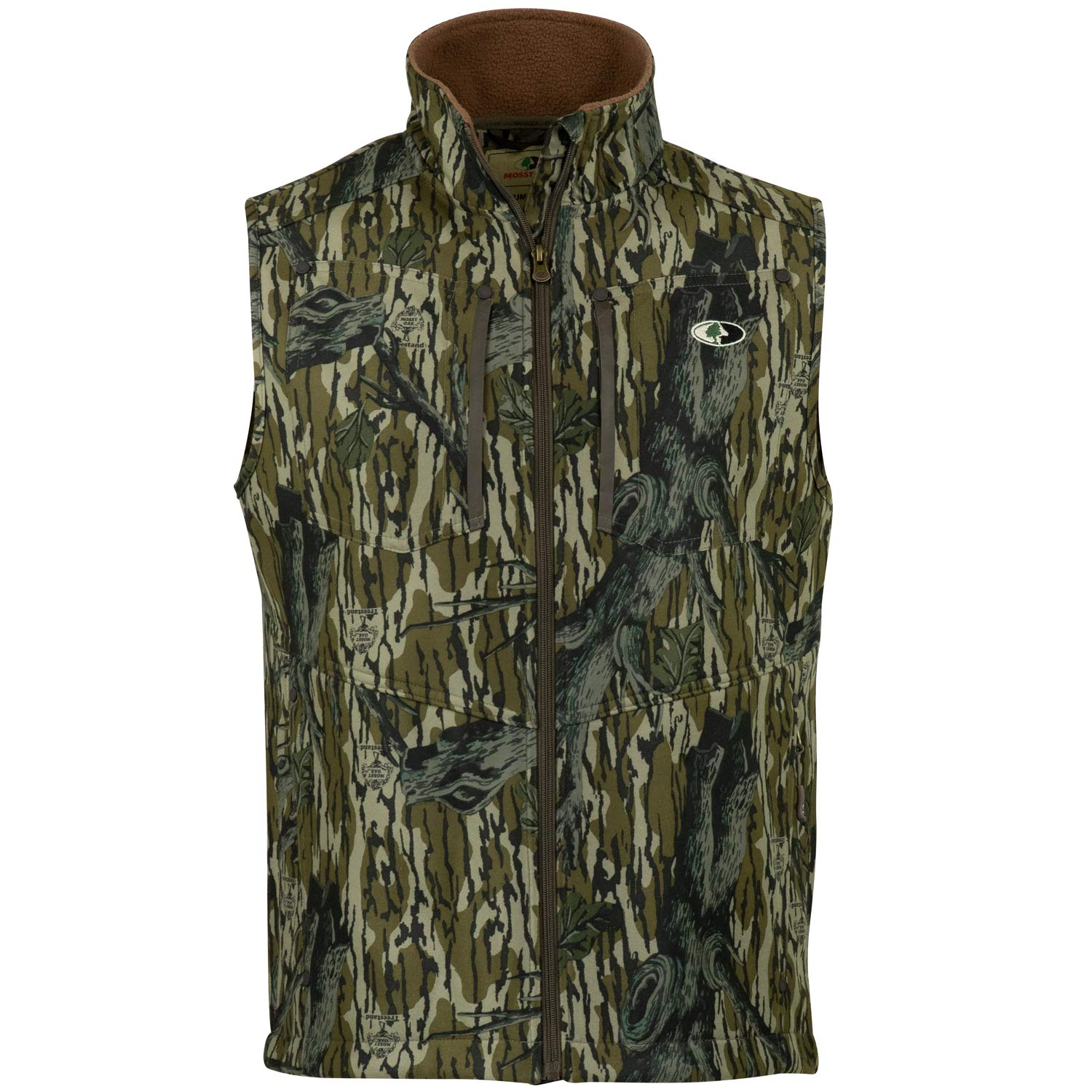 Mossy Oak Men's Camo Sherpa 2.0 Fleece Lined Hunting Vest, Original Treestand, Large by Mossy Oak