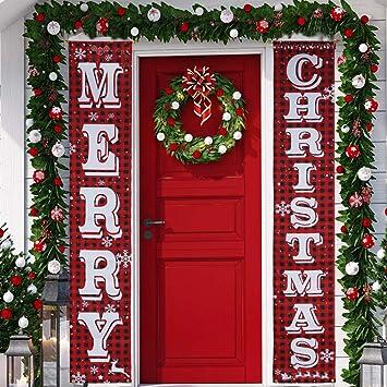 Amazon.com: KERIQI - Cartel de Navidad con texto en inglés ...