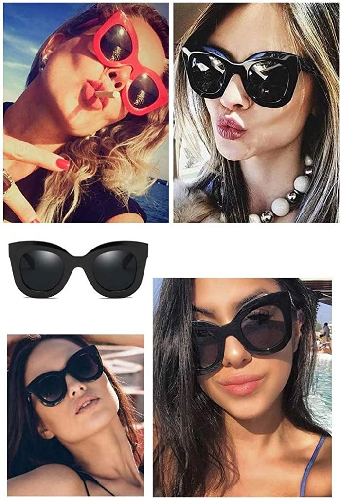 Moda Retro Occhiali da sole gatto donna UV400 Ragazza Grandi Vintage Polarizzati Farfalla