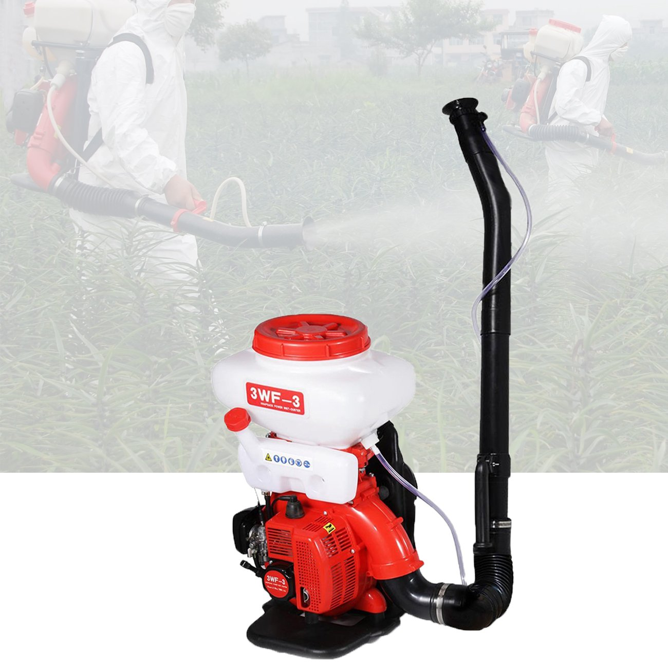 BEAMNOVA Mist Duster Blower Spray Gasoline Powered Mosquito Cold Fogger Backpack Sprayer for Agricultural Plants