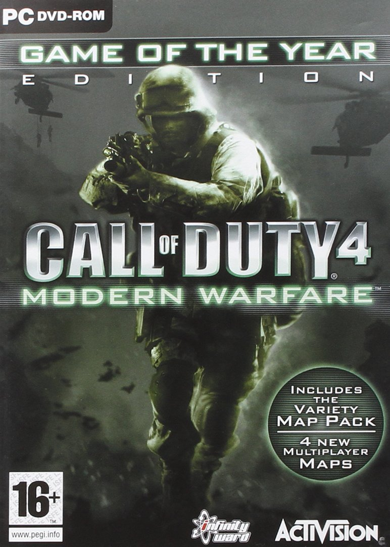 Activision CALL OF DUTY 4 MODERN WARFARE GOTY ED. on call of duty modern warfare maps, call of duty ghosts zombies, call of duty rush,
