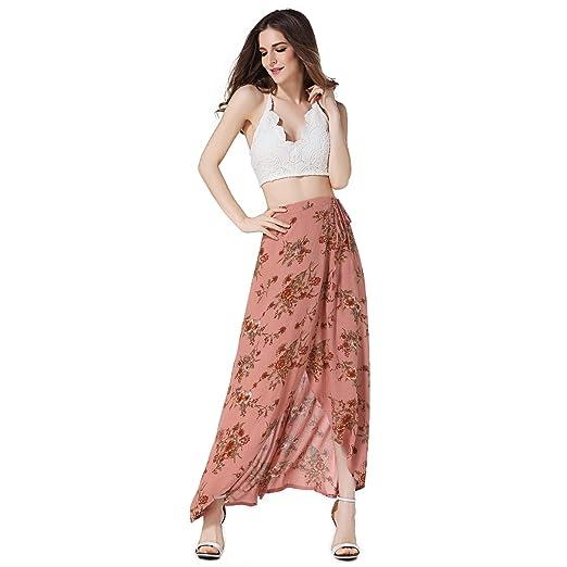 CharmShan Falda Mujer Retro Rockabilly Enaguas Falda Floral de ...