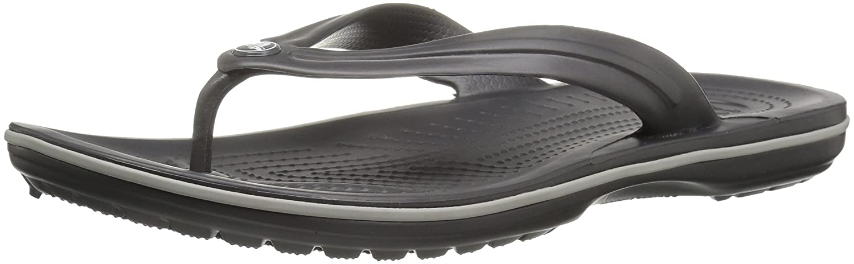 crocs Unisex-Erwachsene Crocband Flip Zehentrenner  46/47 EU|Grau (Graphite/Light Grey)