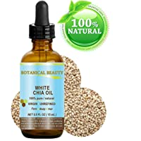 WHITE CHIA OIL. 100% Pure/Natural Cold Pressed Carrier Oil. 0.5 fl.oz-15 ml. For...