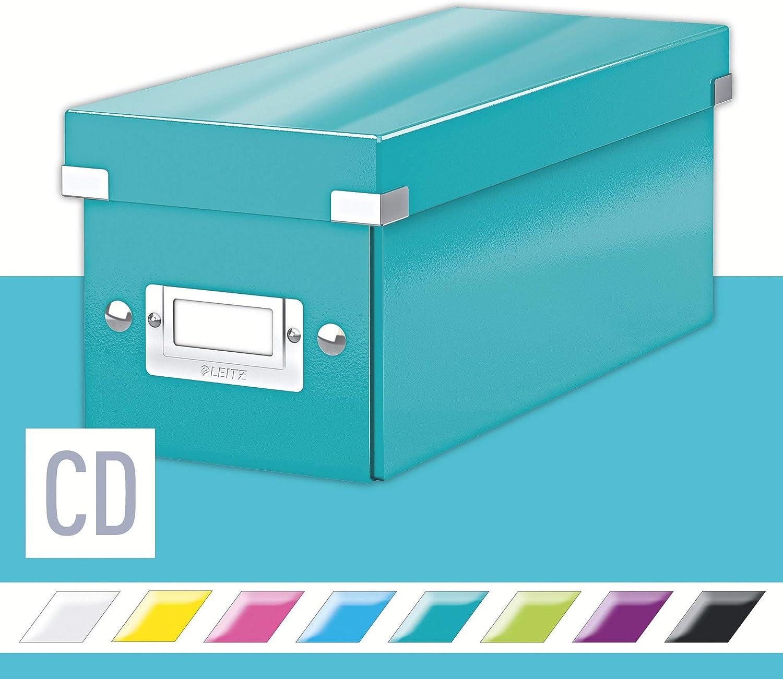 LEITZ 60410051 - Caja CD Box (143x147x352 mm) color turquesa ...