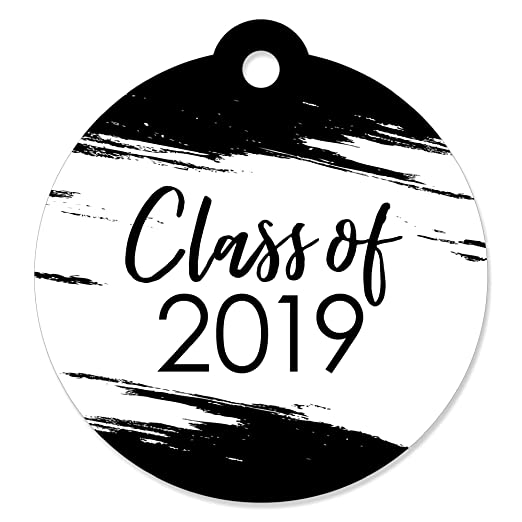 47e24ad3aab2 Black & White Grad - Best is Yet to Come - Black and White 2019 Graduation  Party Favor Gift Tags...